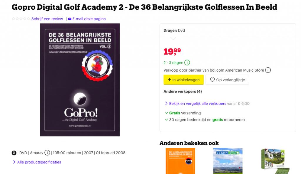Golfdvd waarop Bryan Seton zijn technische kennis deelt, opgenomen in Thailand op de golfbaan
